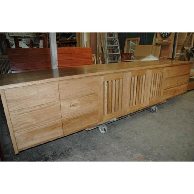 Custom design entertainment unit in spotted gum-tv unit-Wildwood Designs Furniture