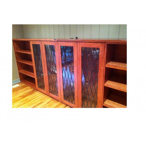 Beautifully Crafted Custom Red Gum Wine Storage Unit