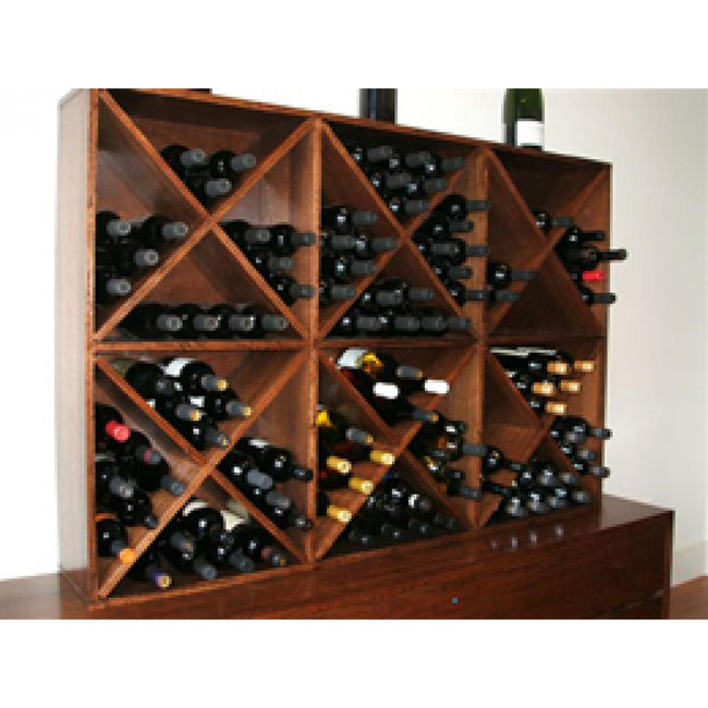 Custom stained cube unit with wine racks-wine racks-Wildwood Designs Furniture