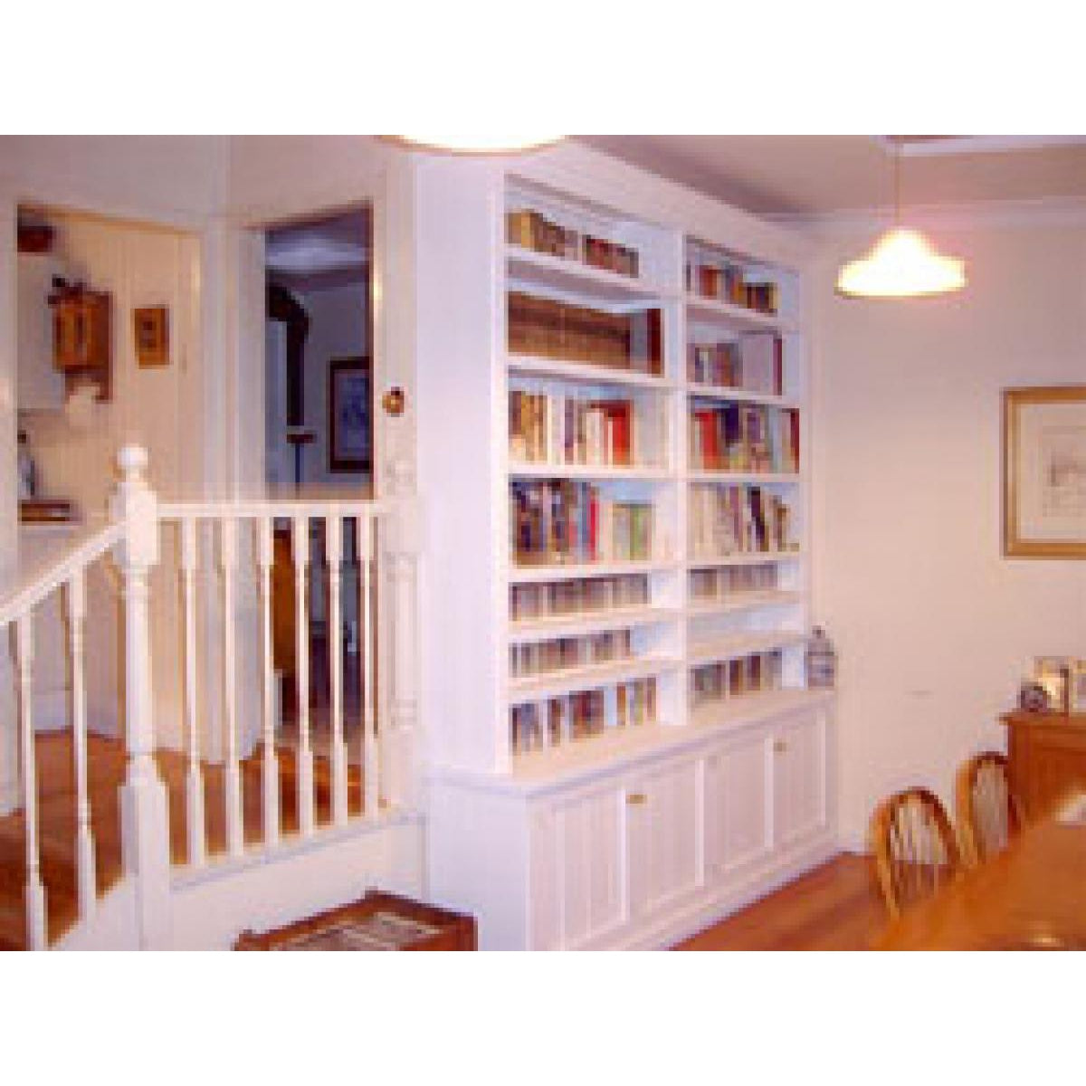 Custom design wall bookcase white gloss-bookcase-Wildwood Designs Furniture