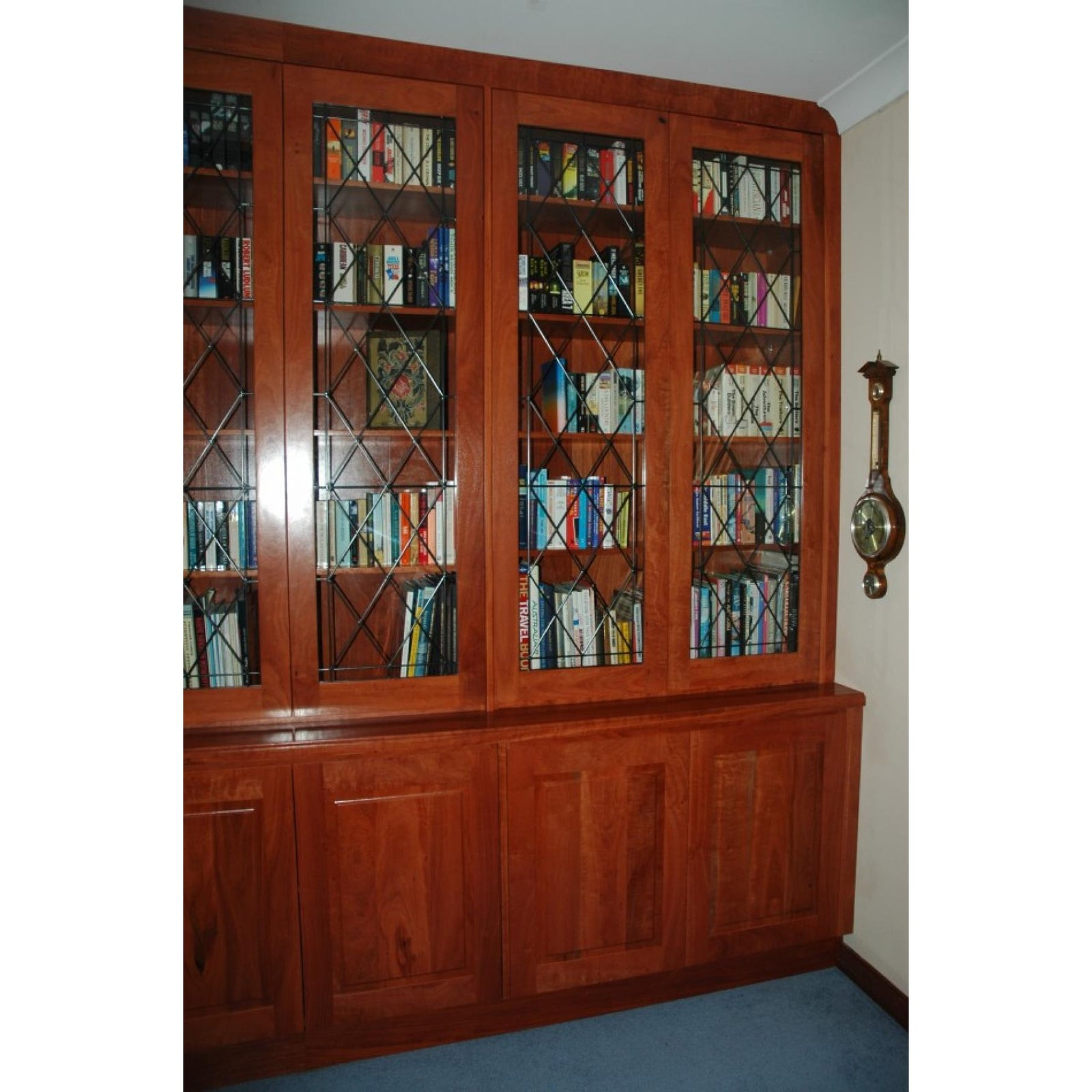 Custom red gum wall unit-bookcase-Wildwood Designs Furniture