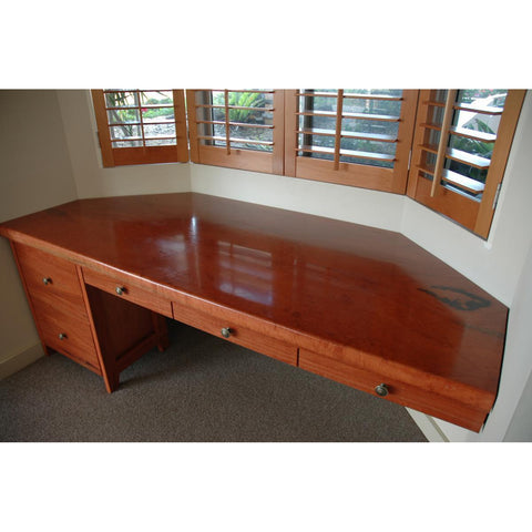 Camphor Laurel Slab Custom Desk