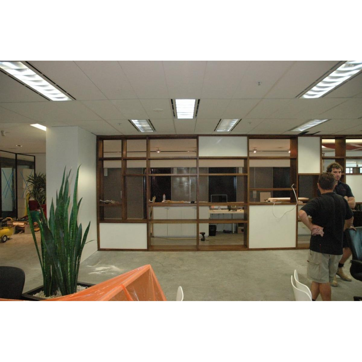 Custom hardwood office room dividers with storage-bookcase-Wildwood Designs Furniture