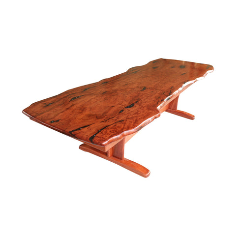 Coffee Table - Waterfall Design Blackbutt Burl