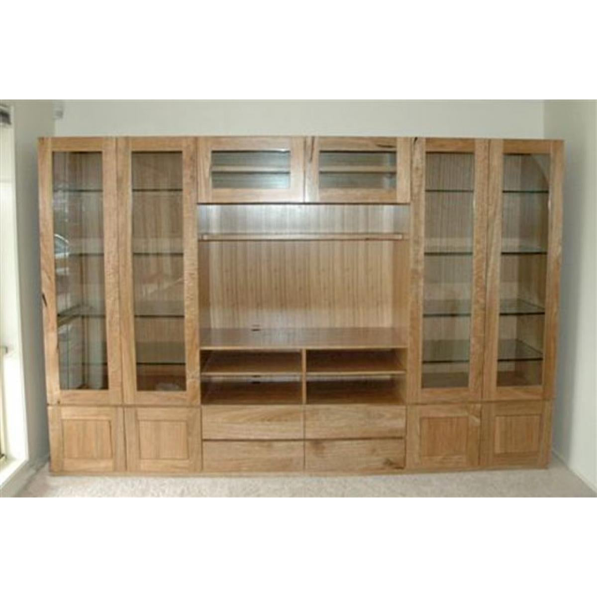 Custom spotted gum wall unit-bookcase-Wildwood Designs Furniture