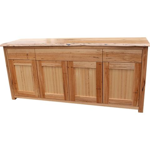 Henly Style Hutch 4 Doors with Open Section