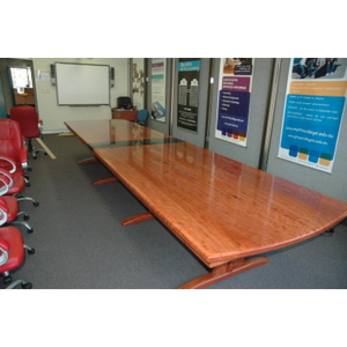 Custom Red Gum Boardroom Table-dining table-Wildwood Designs Furniture