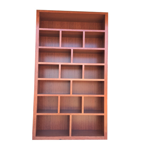Custom Design - Bookcase Wall Unit in Redgum