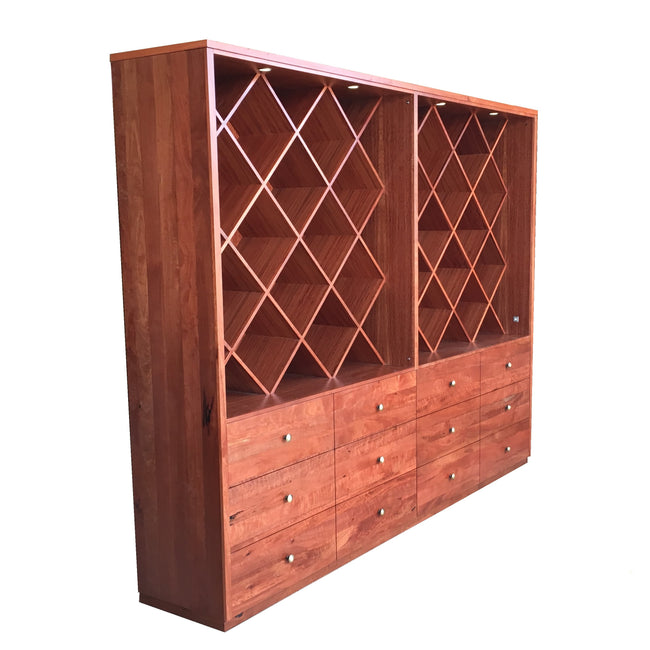 Custom Red Gum Wine Storage Unit