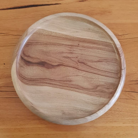 Brown Barrel Burl Bowl