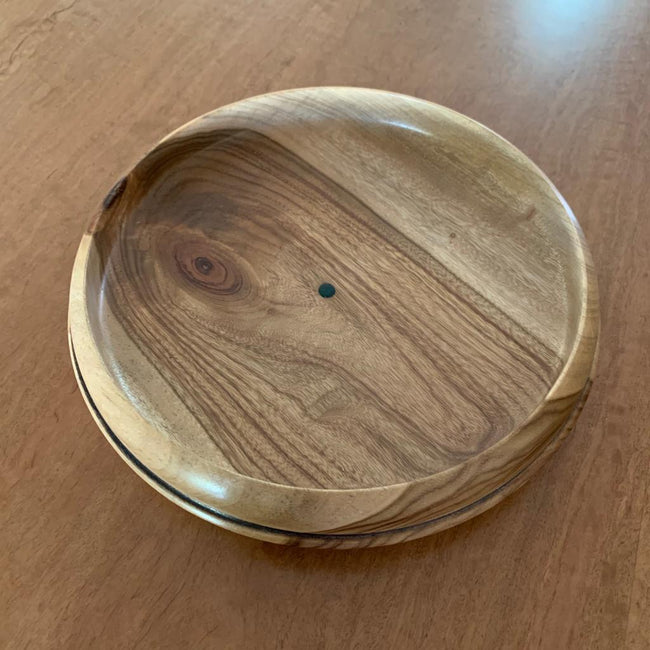 Camphor Laurel Thick Medium Dish (with band)