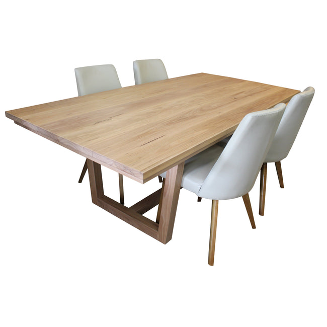 Dining Table - Blackbutt; Natural look finish-dining table-Wildwood Designs Furniture