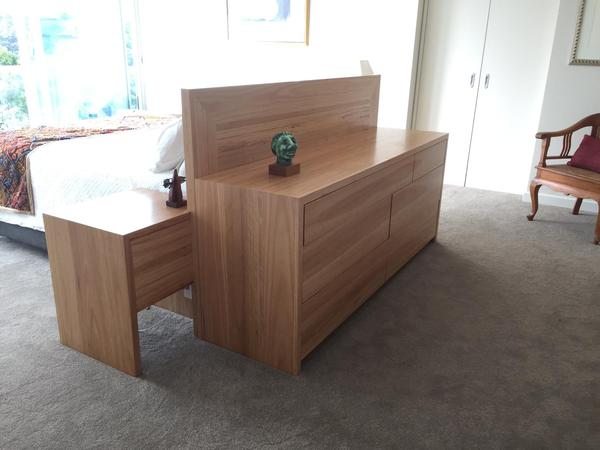 Custom Design - Bedhead with Integrated Bedsides