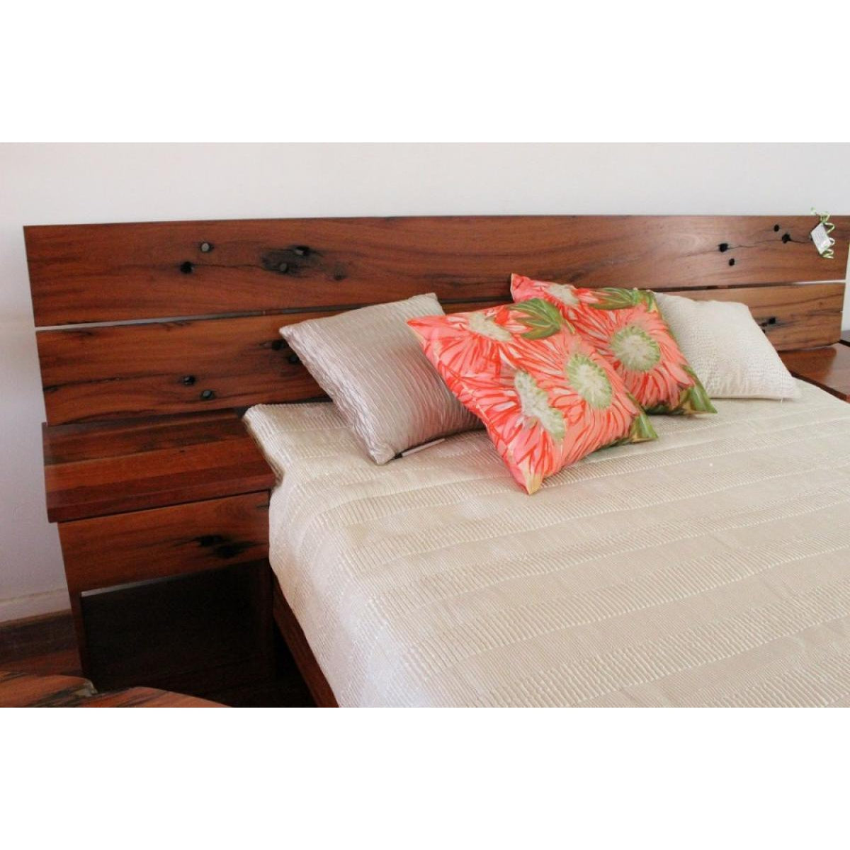 Recycled Red Gum Bed Design-beds-Wildwood Designs Furniture