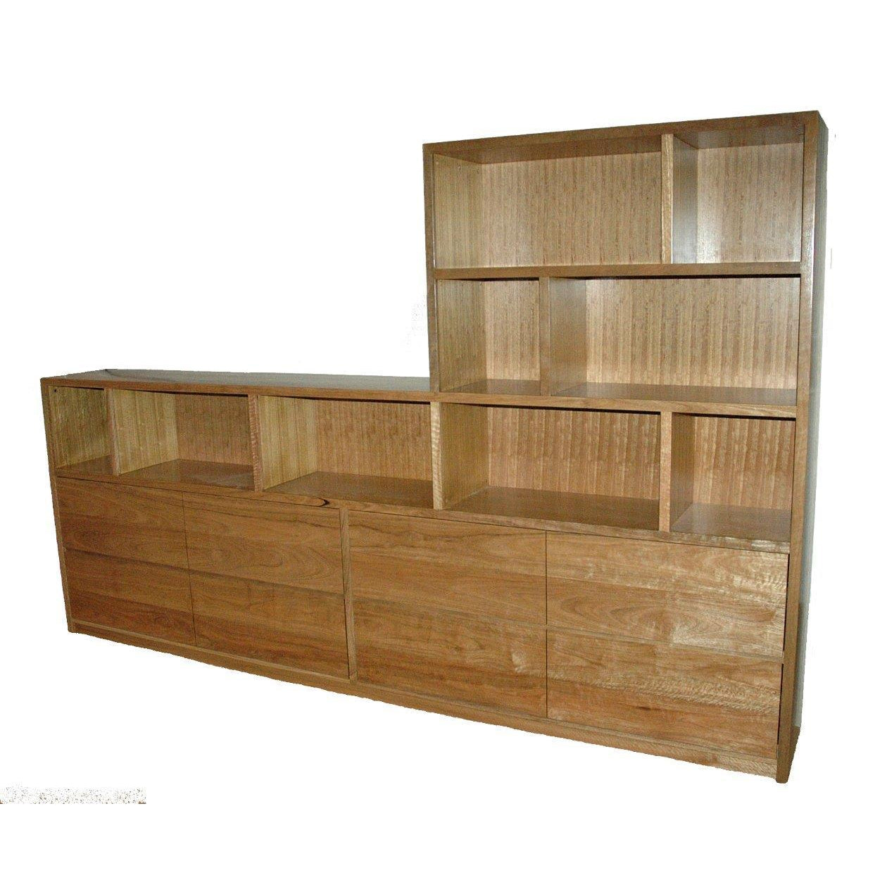 Custom design spotted gum bookcase-bookcase-Wildwood Designs Furniture