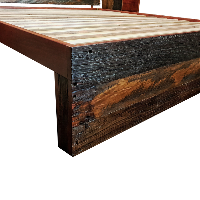 Rustic Reclaimed Timber Bed
