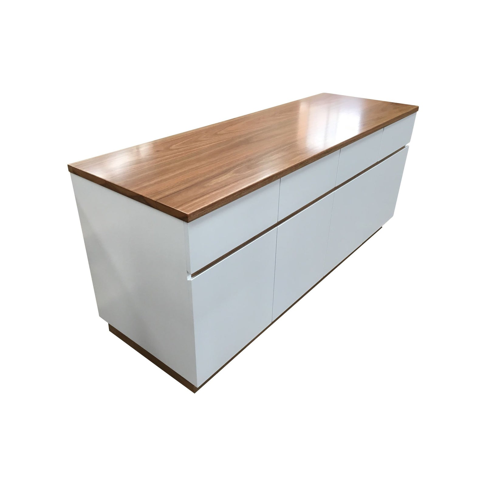 White Buffet with Spotted Gum Top-buffet-Wildwood Designs Furniture