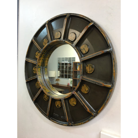 Old Foundry Pattern Mirror - 450mm