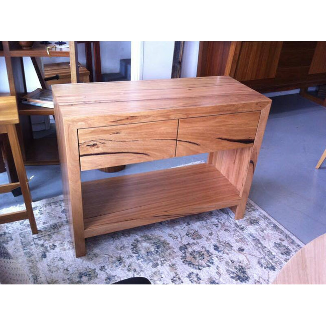 Custom Wormy Chestnut Side Table-side table-Wildwood Designs Furniture