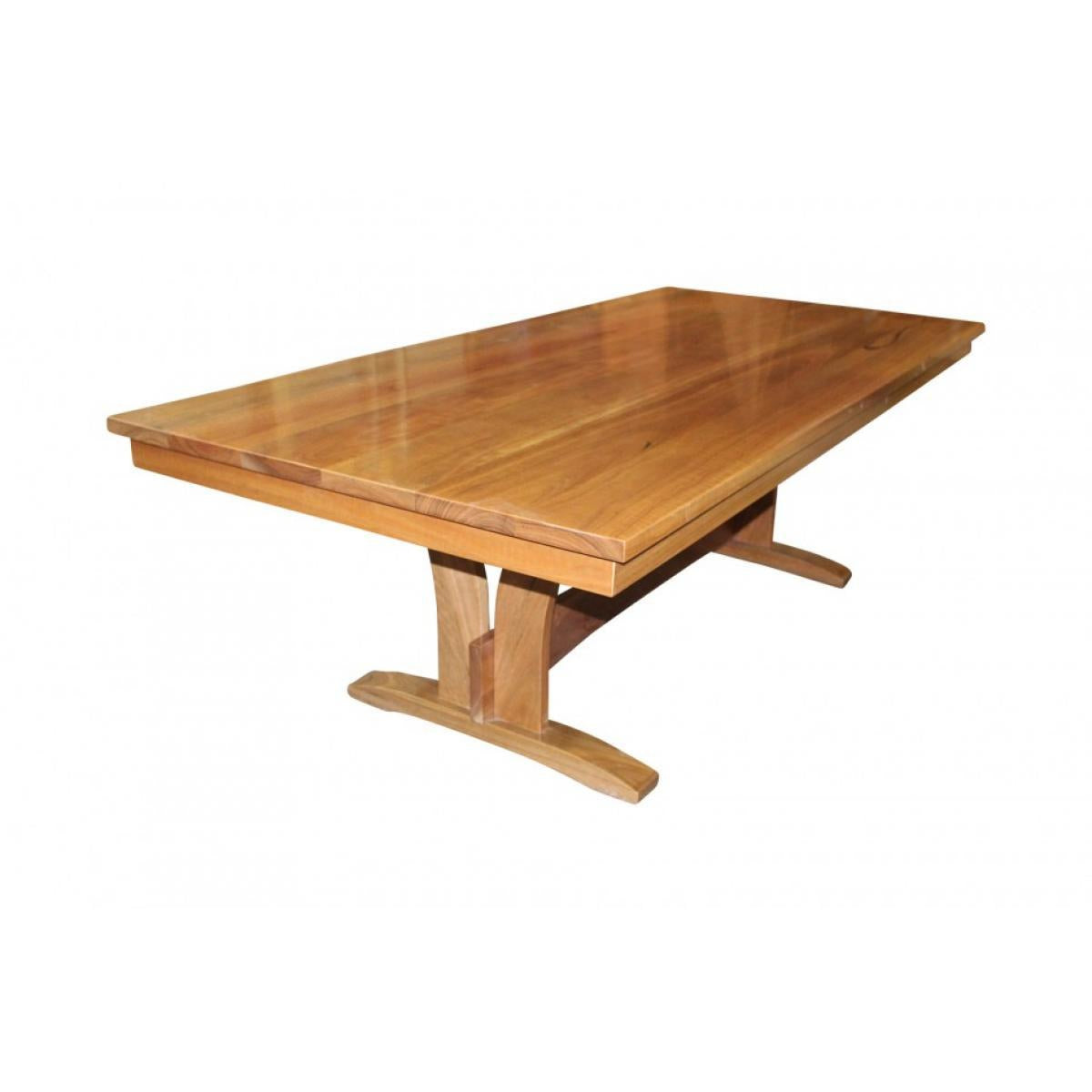 Spotted Gum Dining Table with Pedestal Base-dining table-Wildwood Designs Furniture
