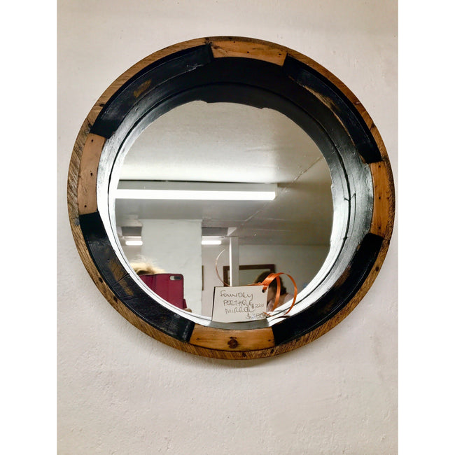 Old foundry pattern mirror 450mm-mirrors-Wildwood Designs Furniture