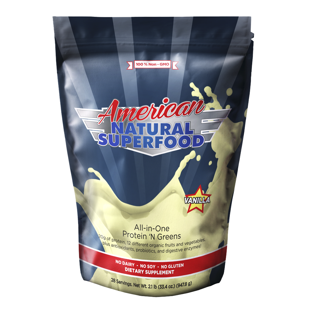 American Super Food 28-Day Supply, Protein & Greens Formula for Weight Management, Energy, And Meals On The Go