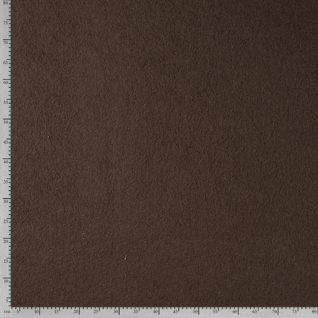 Boiled wool fabric Unicolour Taupe Brown