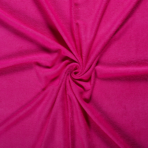 Towelling fabric Fuchsia