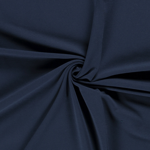 French Terry fabric Unicolour Indigo