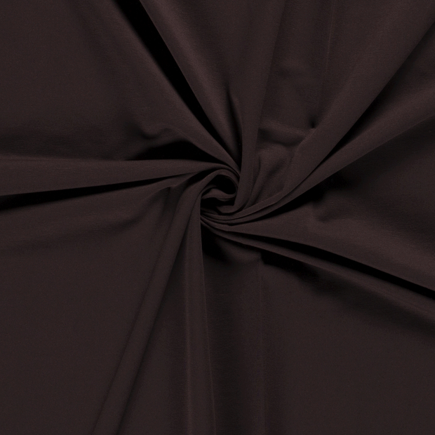 French Terry fabric Unicolour Dark Brown
