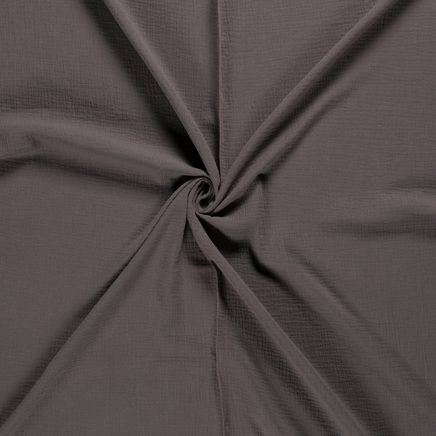Muslin fabric Taupe Brown