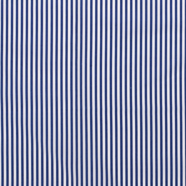 Poplin fabric Stripes Cobalt