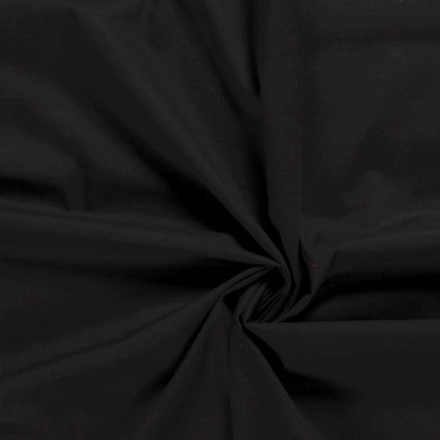 Voile fabric Unicolour Black