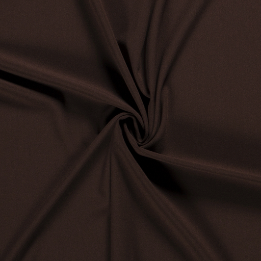 Crepe Fabric fabric Unicolour Dark Brown