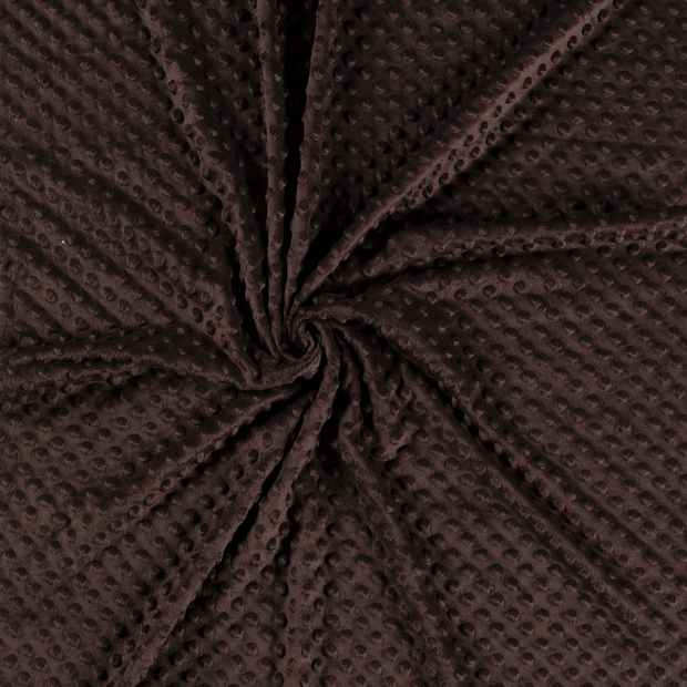 Minky fabric Dark Brown