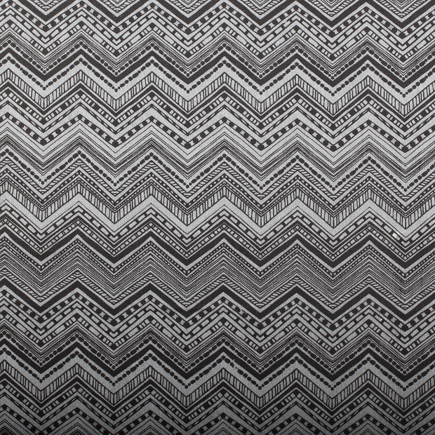 Panama fabric Shapes Dark Grey