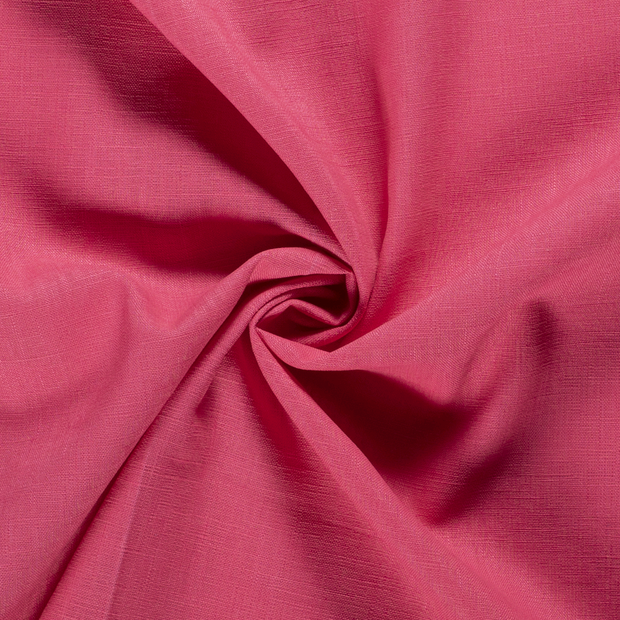Pure linen fabric Unicolour Dark Pink