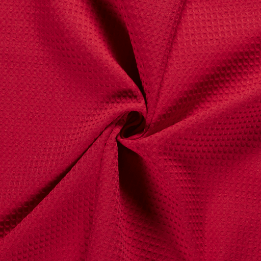 Towelling fabric Unicolour Red