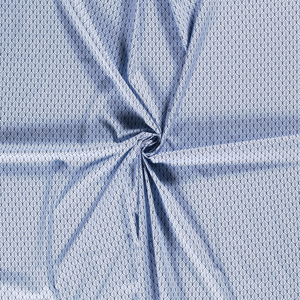 Poplin fabric Baby Blue printed