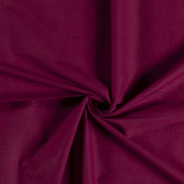Voile fabric Unicolour Wine red