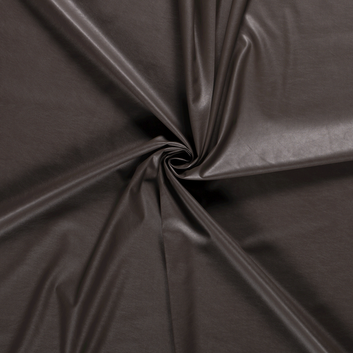 Imitation leather fabric Taupe Brown PUR-coated