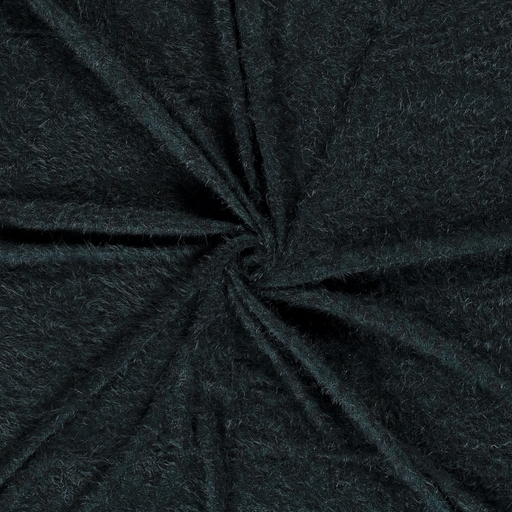 Knitted fabric fabric Dark Green embroidered