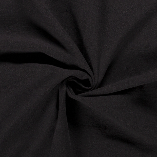Ramie Linen fabric Unicolour Black