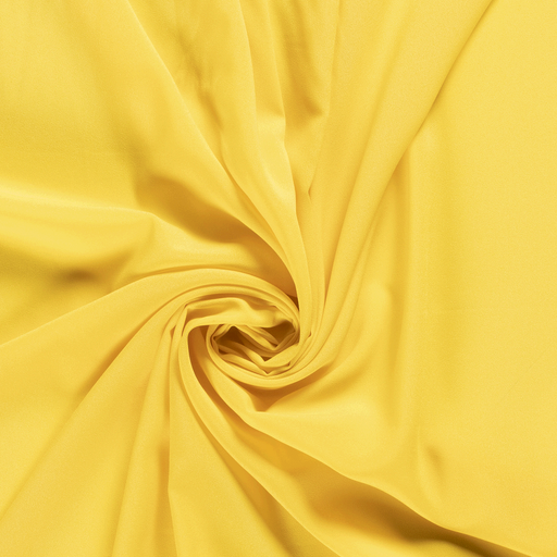 Georgette fabric Unicolour Hard Yellow