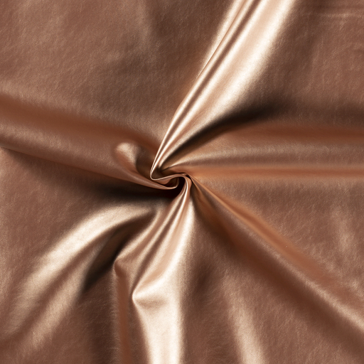 Imitation leather fabric Rose Gold backed