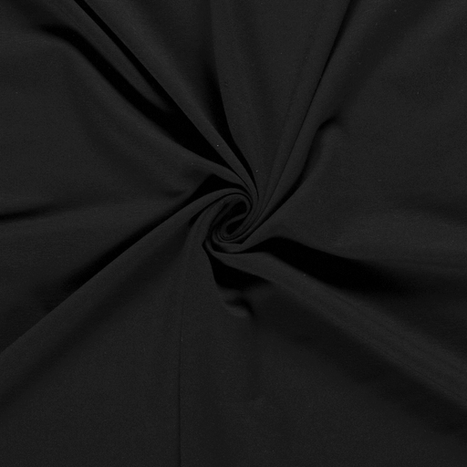 French Terry fabric Unicolour Black