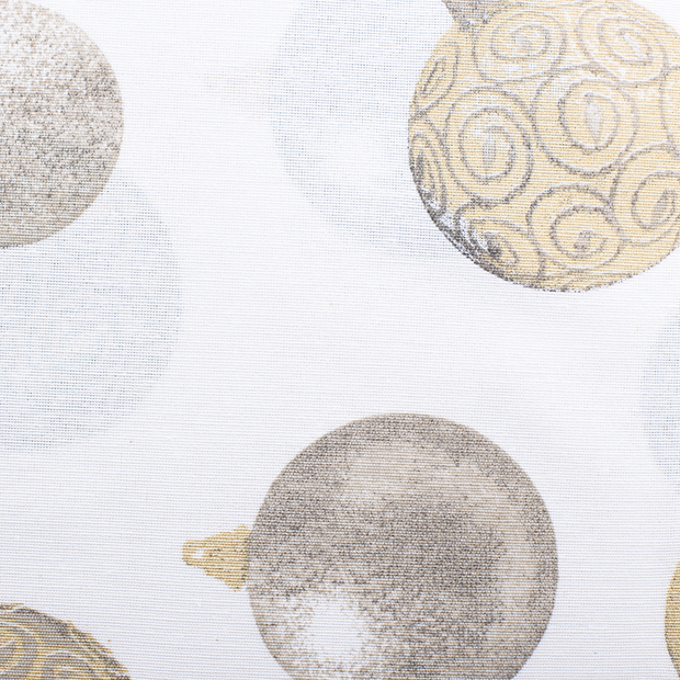 Ottoman fabric Christmas Gold