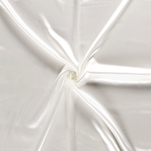 Satin fabric Unicolour Off White