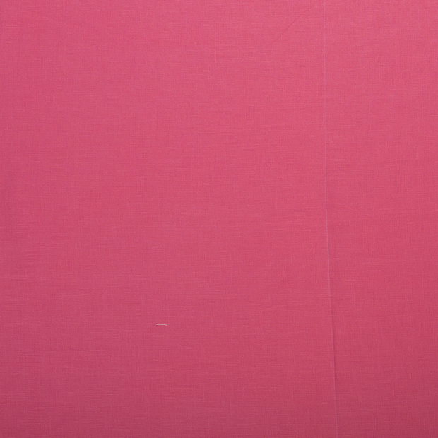 Pure linen fabric Dark Pink matte