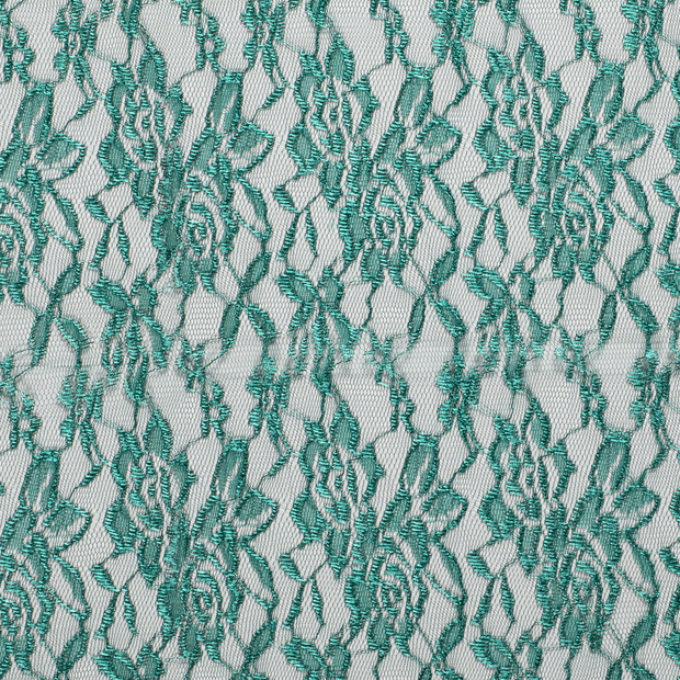Lace fabric Unicolour Forest Green